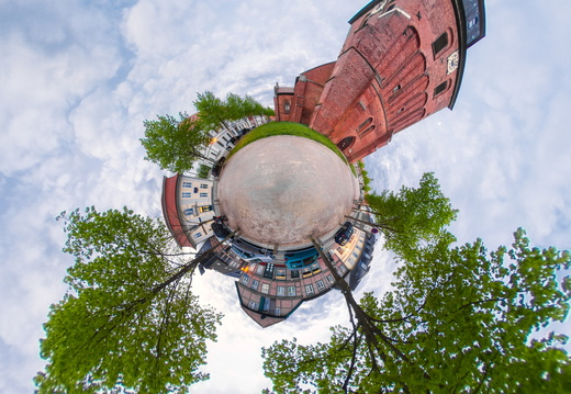 Little Planet Panorama Kirche 3