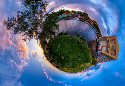 Lauenburg Elbe Little Planet Panorama 3
