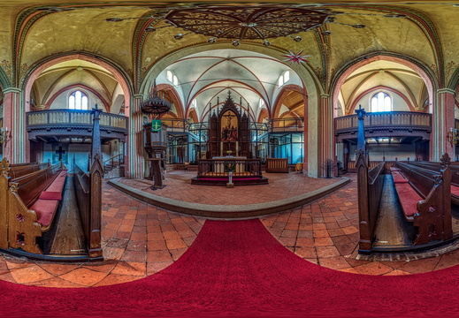 Boizenburg - Kirche Indoor Panorama 1